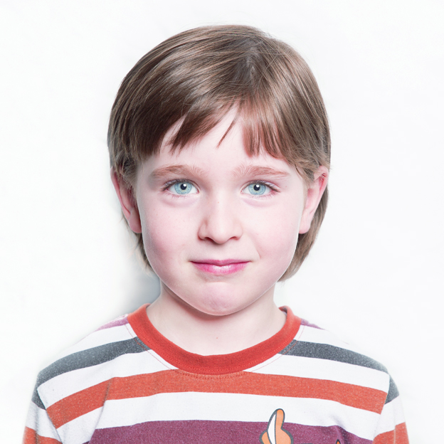 Passport photo of young boy