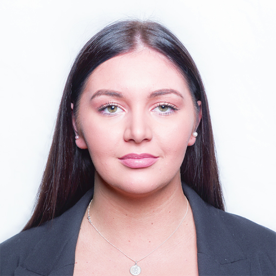 Passport photo of young woman